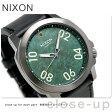 ニクソン レンジャー 45 レザー クオーツ メンズ 腕時計 A4662069 nixon ガンメタル/グリーン/オキシド
