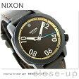 ニクソン A4712209 nixon レンジャー 40 レザー ユニセックス 腕時計 オールブラック/ブラス/ブラウン【あす楽対応】