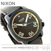 ニクソン A4712209 nixon レンジャー 40 レザー ユニセックス 腕時計 オールブラック/ブラス/ブラウン