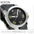 ニクソン A4712222 nixon レンジャー 40 レザー 腕時計 ブラック/ブラス【あす楽対応】