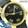 ニクソン A471513 nixon レンジャー 40 レザー ユニセックス 腕時計 ゴールド/ブラック