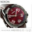 ニクソン A5082073 nixon レンジャー レザー メンズ 腕時計 ガンメタル/ディープ バーガンディ【あす楽対応】