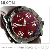 ニクソン A5082073 nixon レンジャー レザー メンズ 腕時計 ガンメタル/ディープ バーガンディ