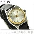 ニクソン A5091884 nixon ニクソン スモール タイム テラー レザー レディース 腕時計 シルバー/ゴールド/ブラック【あす楽対応】
