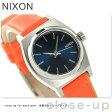 ニクソン A5092077 nixon ニクソン スモール タイム テラー レザー レディース 腕時計 ネイビー/ブライトコーラル【あす楽対応】