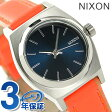 ニクソン A5092077 nixon ニクソン スモール タイム テラー レザー レディース 腕時計 ネイビー/ブライトコーラル