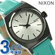 ニクソン A5092084 nixon ニクソン スモール タイム テラー レザー レディース 腕時計 シルバー/ターコイズ【あす楽対応】