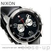 ニクソン A940000 nixon レンジャー クロノグラフ レザー メンズ 腕時計 ブラック