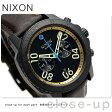 ニクソン A9402209 nixon レンジャー クロノグラフ レザー メンズ 腕時計 オールブラック/ブラス/ブラウン【あす楽対応】