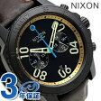 ニクソン A9402209 nixon レンジャー クロノグラフ レザー メンズ 腕時計 オールブラック/ブラス/ブラウン