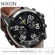 ニクソン A940712 nixon レンジャー クロノグラフ レザー メンズ 腕時計 オールブラック/ブラウン【あす楽対応】