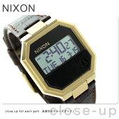ニクソン A944849 nixon リ・ラン レザー デュアルタイム ユニセックス 腕時計 ブラウンクロック【あす楽対応】