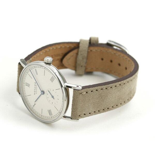 ノモス NOMOS ドイツ製 手巻き 244 ラドウィッグ 33mm レディース 腕時計 LD1A2W233 シルバー×グレージュ 時計【あす楽対応】