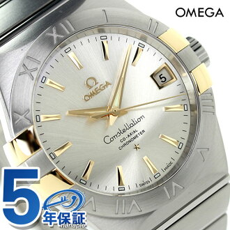 歐米茄星座 co 38 毫米自動 123.20.38.21.02.005 歐米茄手錶銀