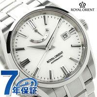 ロイヤルオリエント自動巻きパワーリザーブWE0041EKORIENTメンズ腕時計シルバー