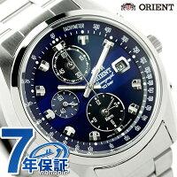オリエントネオセブンティーズクロノグラフソーラーWV0011TYORIENTメンズ腕時計ネイビー