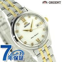 オリエントワールドステージコレクションペアウォッチWV0121SZORIENTレディース腕時計ミルキーホワイト×ゴールド
