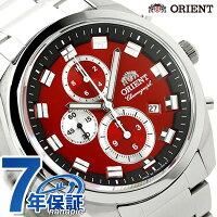 オリエントネオセブンティーズクロノグラフWV0481TTORIENTメンズ腕時計クオーツビッグケースレッド