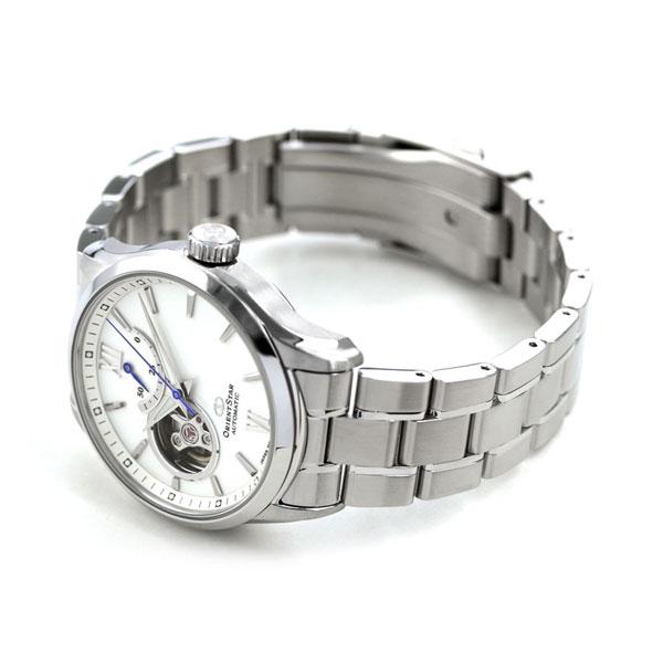 10日なら!店内ポイント最大45倍! オリエントスター 腕時計 メンズ ORIENT STAR 日本製 自動巻き オープンハート コンテンポラリー RK-AT0004S ホワイト 時計【あす楽対応】