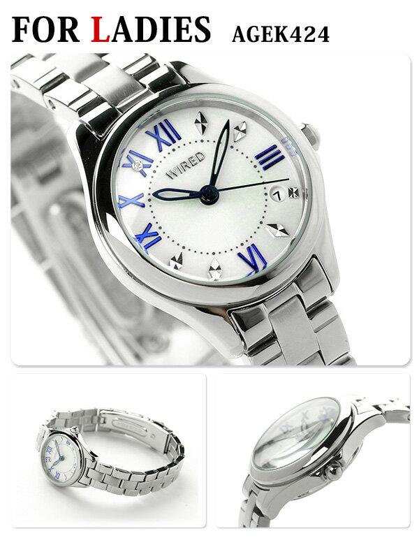 店内ポイント最大43倍!26日1時59分まで! ペアウォッチ セイコー クロノグラフ ホワイト 腕時計 メンズ レディース SEIKO ワイアード 時計