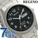 シチズン レグノ ソーラー メンズ 腕時計 チタン KM1-415-53 CITIZEN REGUNO ブラック 時計【あす楽対応】
