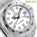 【10000円OFFクーポン 4日20:00?9日01:59まで】ロレックス ROLEX エクスプローラー2 42 自動巻き 腕時計 216570 ホワイト 新品