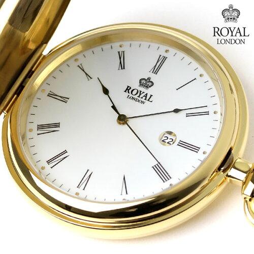 ロイヤルロンドン 懐中時計 クオーツ 90001-02 ROYAL LONDON ポケットウォッチ