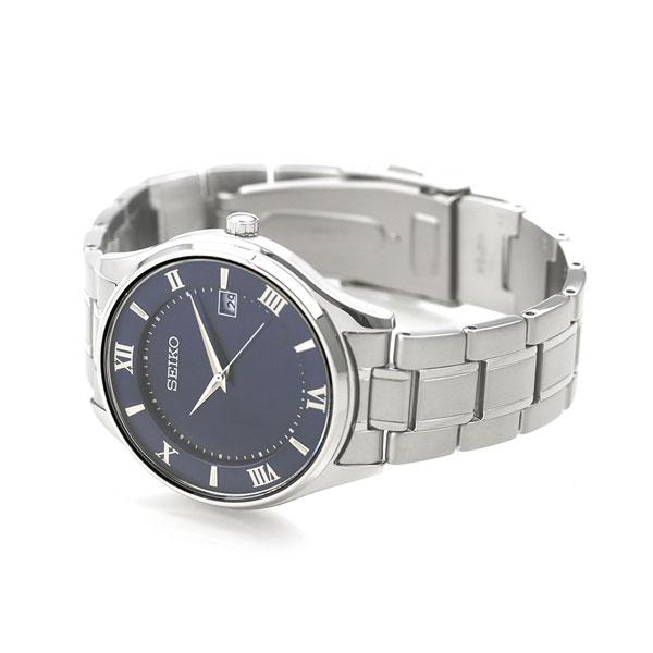 セイコーセレクション チタン 日本製 ソーラー メンズ 腕時計 SBPX115 SEIKO ネイビー 時計【あす楽対応】