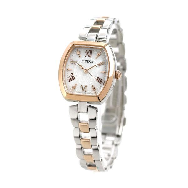 セイコー セレクション 電波ソーラー レディース 腕時計 SWFH098 SEIKO ホワイト×シルバー