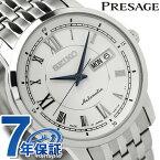 セイコー プレザージュ メカニカル メンズ 機械式 腕時計 SARY025 SEIKO PRESAGE Mechanical ホワイト 時計【あす楽対応】
