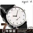 アニエスベー agnes b. ユニセックス 腕時計 カーフベルト ホワイト FBRT987