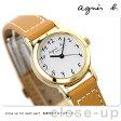 agnes b.(アニエスベー)アニエスb レディース 腕時計 ソーラー アラビア キャメル FBSD980【あす楽対応】