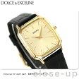 セイコー ドルチェ クオーツ メンズ SACM154 SEIKO DOLCE&EXCELINE 腕時計 ゴールド×ブラック レザーベルト