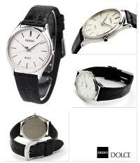 セイコードルチェ&エクセリーヌメンズSACM171SEIKODOLCE&EXCELINE腕時計シルバー×ブラック革ベルト