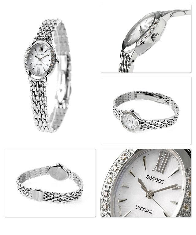 【25日なら全品5倍以上!店内ポイント最大37倍】 セイコー ドルチェ&エクセリーヌ ソーラー レディース SWCQ047 SEIKO DOLCE&EXCELINE 腕時計 ホワイト 時計