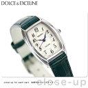 セイコー エクセリーヌ クオーツ トノー型 レディース SWDB063 SEIKO DOLCE&EXCELINE 腕時計 ホワイト×ネイビー レザーベルト