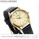セイコー エクセリーヌ クオーツ レディース SWDL160 SEIKO DOLCE&EXCELINE 腕時計 ゴールド×ブラック レザーベルト