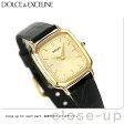 セイコー エクセリーヌ クオーツ レディース SWDL164 SEIKO DOLCE&EXCELINE 腕時計 ゴールド×ブラック レザーベルト