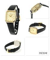 セイコーエクセリーヌ腕時計レディースペアウォッチゴールド×ブラックレザーSEIKODOLCE&EXCELINESWDL164