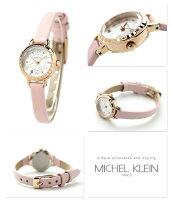 ミッシェルクランレディース腕時計クオーツAJCK074MICHELKLEINシルバー×ピンク