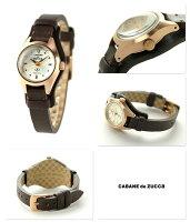 ズッカB-ヴィンテージSクオーツレディース腕時計AJGK058CABANEdeZUCCaシルバー×ダークブラウン