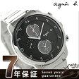 アニエスベー マルチェロ ソーラー ソーラー クロノグラフ FBRD974 agnes b. メンズ 腕時計 ブラック【あす楽対応】