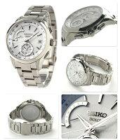 セイコードルチェ電波ソーラーワールドタイムメンズSADA025SEIKODOLCE&EXCELINE腕時計コンフォテックスチタンシルバー