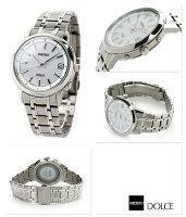 SEIKOドルチェ電波ソーラーコンフォテックスチタンペアウォッチメンズSADZ163DOLCE&EXCELINE腕時計シルバー