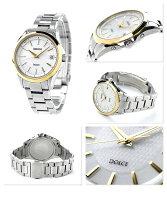 セイコードルチェ電波ソーラーペアウォッチメンズSADZ178SEIKODOLCE&EXCELINE腕時計コンフォテックスチタンシルバー×ゴールド