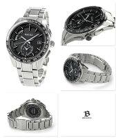 SEIKOブライツ電波ソーラーコンフォテックスレトログラードSAGA167BRIGHTZメンズ腕時計ブラック