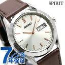 セイコー スピリット スマート 限定モデル メンズ 腕時計 SCEC021 SEIKO SPIRIT SMART クオーツ ゴールド×ブラウン レザーベルト 時計【あす楽対応】