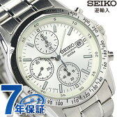 セイコー 逆輸入 海外モデル 高速クロノグラフ SND363P1 (SND363PC) SEIKO メンズ 腕時計 クオーツ ホワイト【あす楽対応】