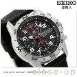 セイコー 逆輸入 海外モデル 高速クロノグラフ SND399P1 (SND399P) SEIKO メンズ 腕時計 クオーツ ブラック ナイロンベルト