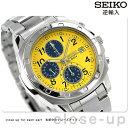 セイコー 逆輸入 海外モデル 高速クロノグラフ SND409P1 (SND409P) SEIKO メンズ 腕時計 クオーツ イエロー×ネイビー 時計